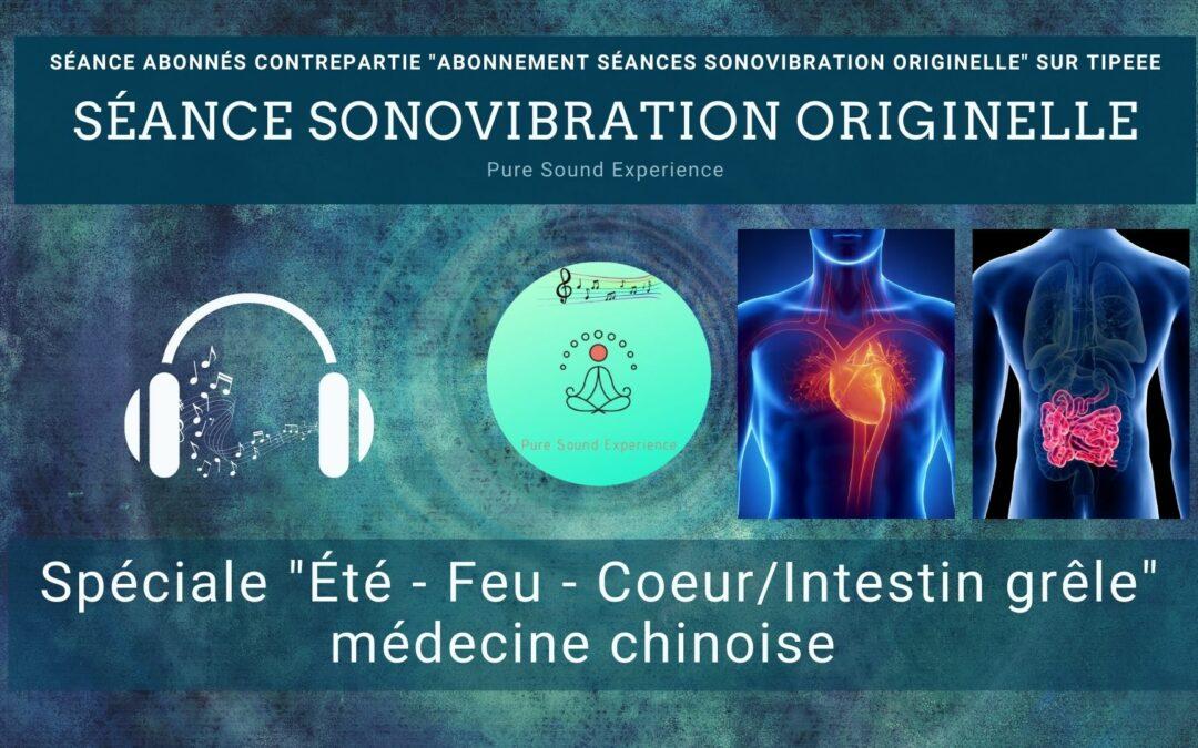 """Séance SonoVibration Originelle spéciale """"Été – Feu – Coeur/Intestin grêle"""" médecine chinoise"""
