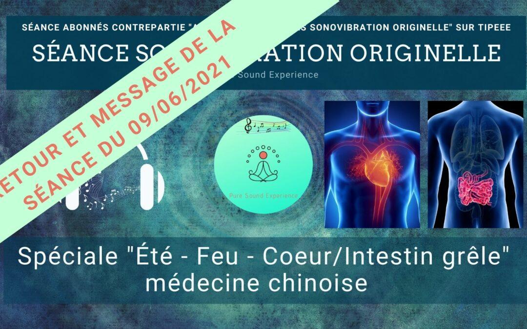 Retour et message reçu lors de la séance SonoVibration Originelle du 09/06/2021