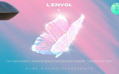 """""""L'ENVOL"""" – Live improvisation HandPan 432 hertz – Extrait séance SonoVibration Originelle"""