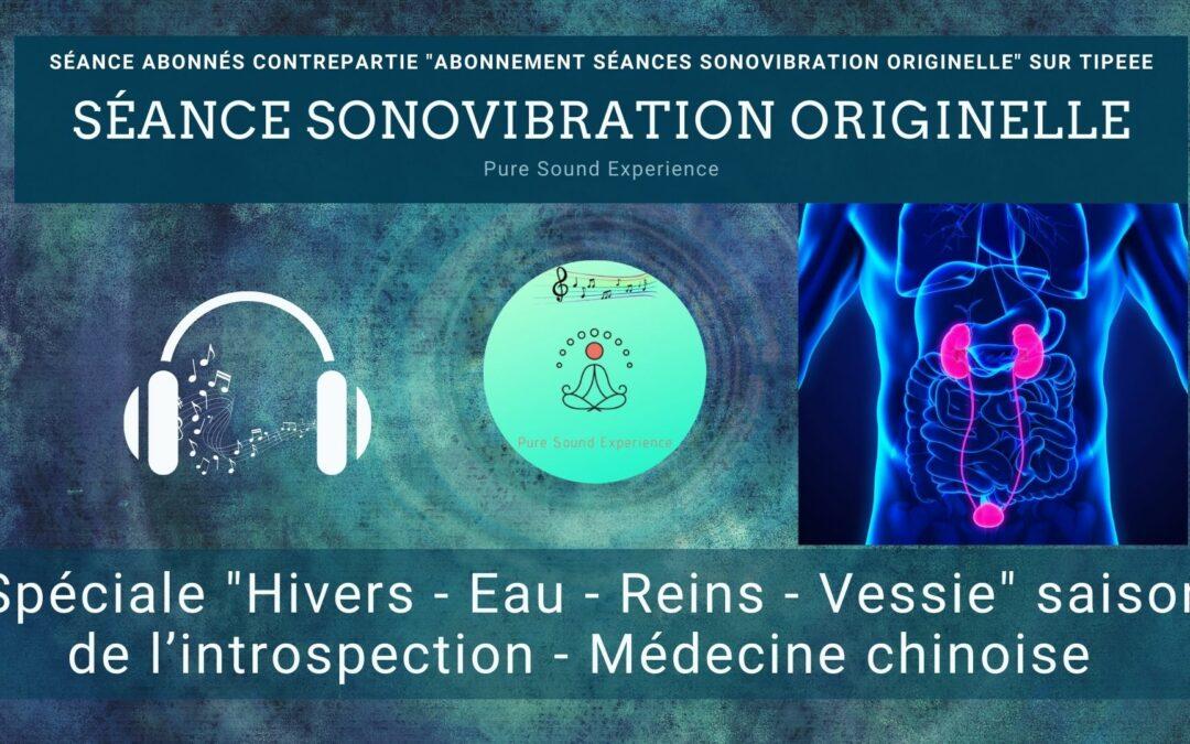 07/11/2021 Séance SonoVibration Originelle spéciale «Hivers – Eau – Reins – Vessie» saison de l'introspection